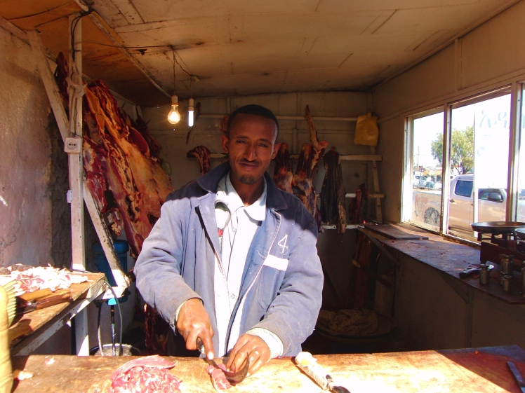 De slager in Ethiopië