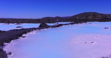 Bij de Blue Lagoon