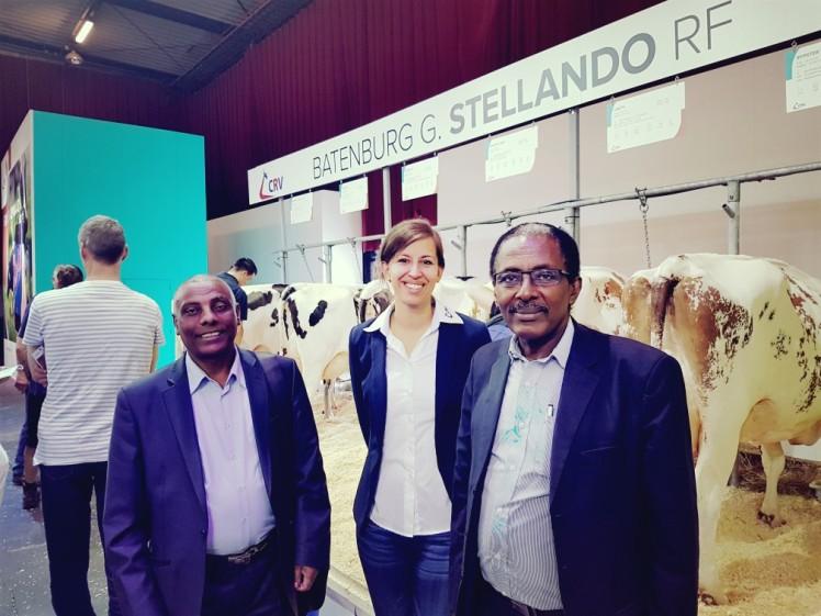 Met de Minister van Veeteelt uit Ethiopië