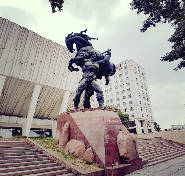 Kojomkul monument sports palace