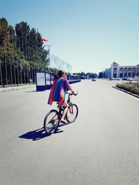 Fietsen door Bishkek