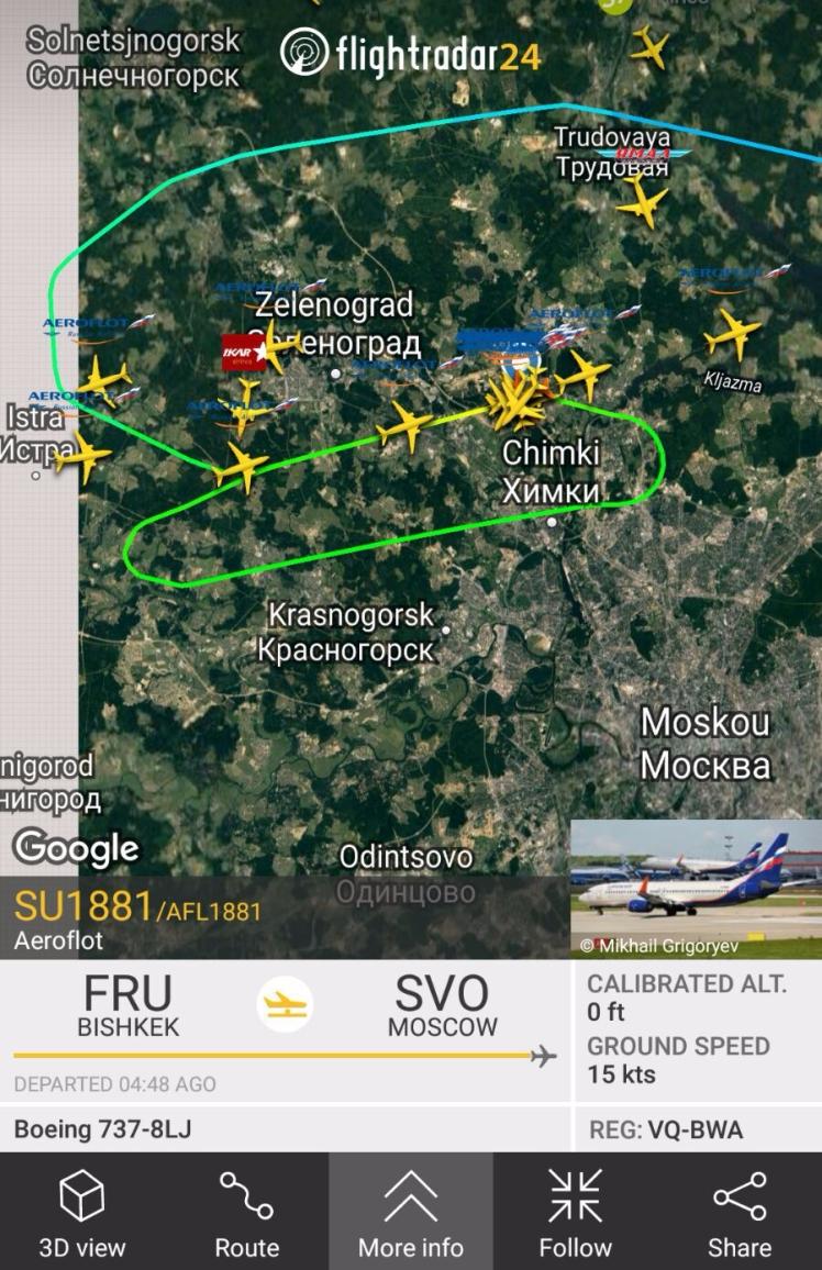 Doorstart boven Moskou