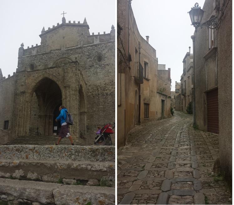 Middeleeuwse straatjes Erice Sicilië
